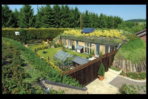 SEArch's award-winning Honingham Earth Sheltered Social Housing Scheme in Norfolk.